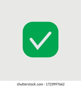 Green check mark icon. Vector check icon