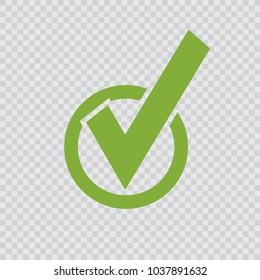 green checkmark icon.
