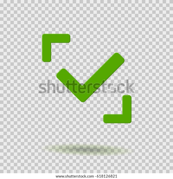 Green Checkmark Icon Isolated On Transparent 스톡 벡터
