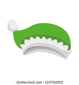 0e49916f46c18 Green Christmas Hat Isolated Icon Stock Vector (Royalty Free ...