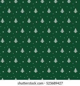 Green Christmas pattern for background or gift wrapping papper