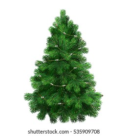 green Christmas trees.Christmas tree elegant with ornaments and New Year