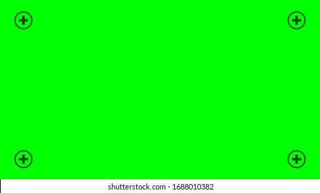 Green chroma key track point. Chroma key Background. Vector stock illustration.