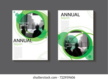 green Circle abstract cover design modern book cover abstract Brochure cover  template,annual report, magazine and flyer layout Vector a4