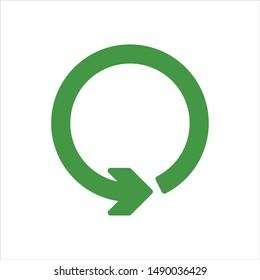 Green Circle Arrow Vector Logo. Recycle Icon and Symbol. Eps 10.