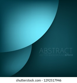 Green circle curve vector background