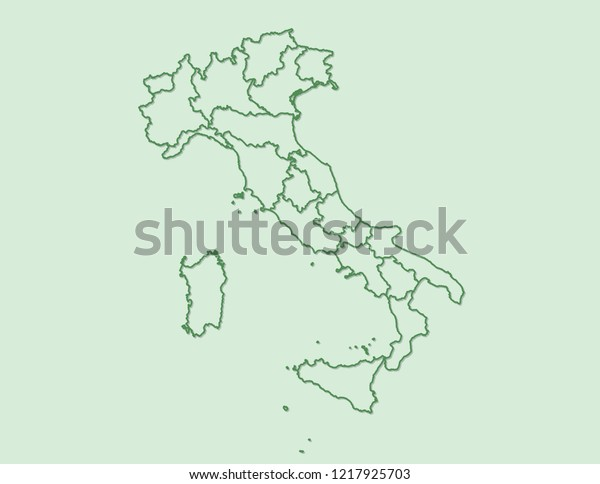 Clear Map Of Italy.Green Clear Italy Map Borders Political Stock Vector Royalty Free