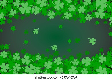Green Clover Abstract Background for St Patricks Day.