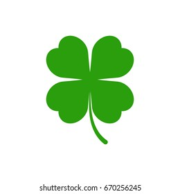 Green clover icon. Vector.