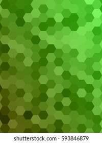 Green color abstract hexagonal honey comb background