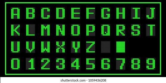 Dot Matrix Font Images Stock Photos Vectors Shutterstock
