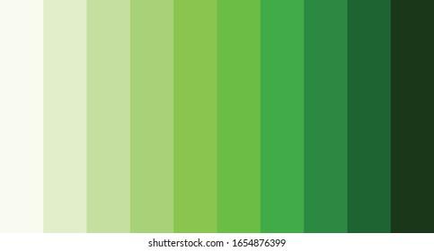 Green color palette vector illustration