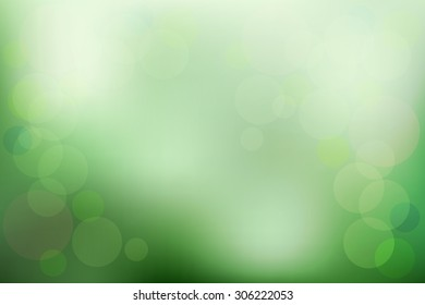 Green color,abstract blur vector background