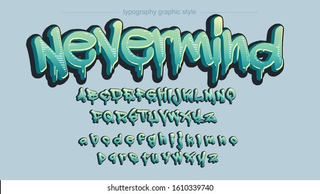 Green Colorful Grafitti Underground Style Typography Artistic Font