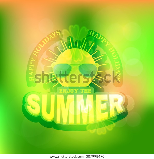 Green Colors Abstract Blurred Background and Web Banner of Summer Season