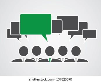 green communication talk bubbles