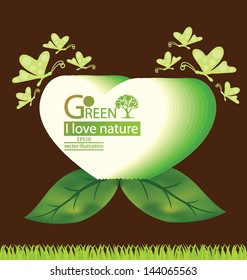 Green concepts. save world. vector illustration.