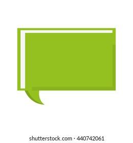 green conversation bubble