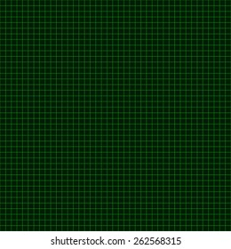 Green Coordinate Mesh Background. Vector Illustration.