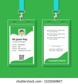 green creative corporate business id card template
