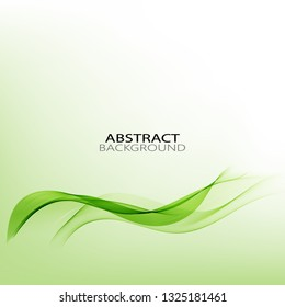 Green creative wave, eco background