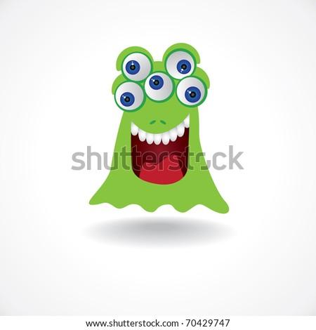 f3b7ba792e7c Green Creature Monster Five Eyes Illustration Stock Vector (Royalty ...