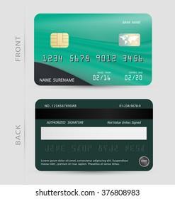 Green credit debit card design template,To adapt idea for commercial,business,advertising,information,financial,vector,illustration