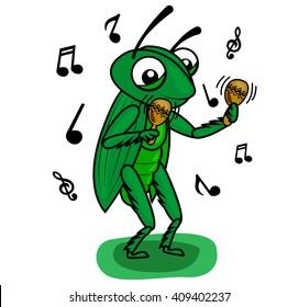 green  cricket music