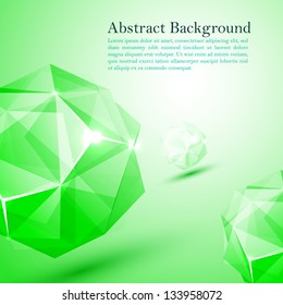 Green cristal abstract background
