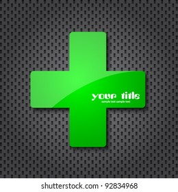 green cross clean icon and dotted texture