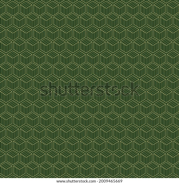 Green cube high resolution seamless pattern