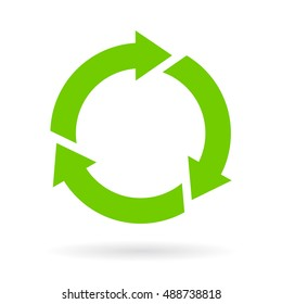 Green cycle icon illustration isolated on white background