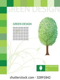 Green design template / vector