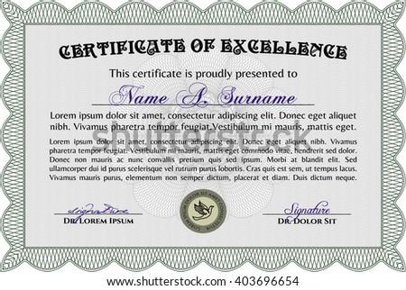green diploma template certificate template vector stock vector