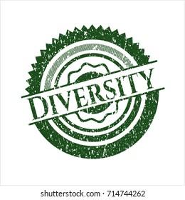Green Diversity distress grunge stamp