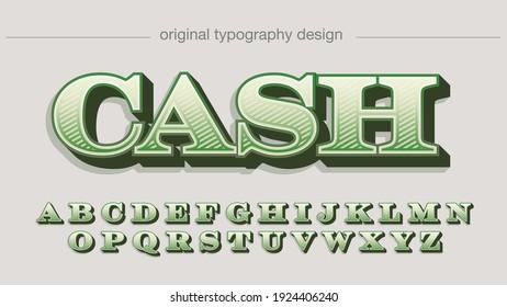 Green Dollar Serif Luxury Decorative Artistic Font Typography