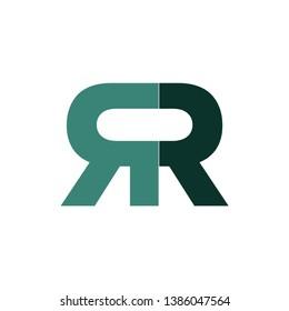 green double r logo type