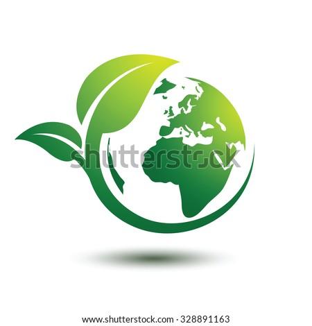 Green Earth Concept Leavesvector Illustration Stock Vector Royalty