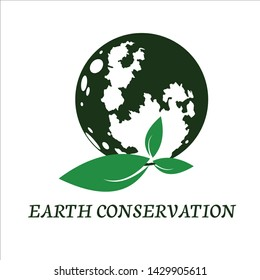 Green Earth conservation vector logo