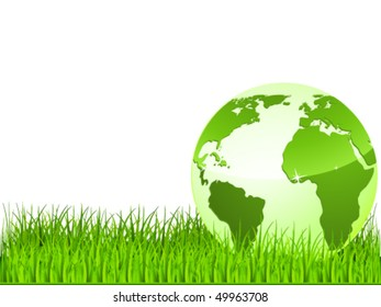 green earth on green grass