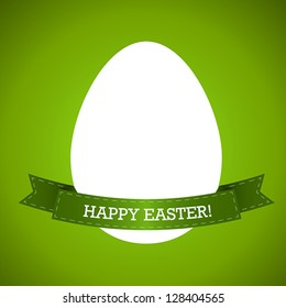 green easter egg with ribbon, easter and spring cocnept,