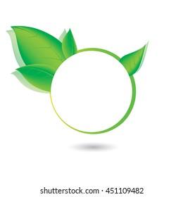 Green, eco, bio and organic label.vector