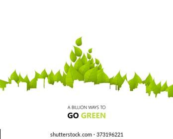 Green Eco City Background Design