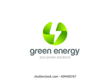 Green Eco Energy Flash Logo.