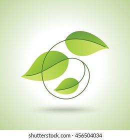 Green eco friendly poster design.