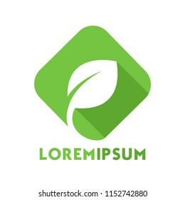 Green Eco Leaf Vector Logo Icon Design Template illustration