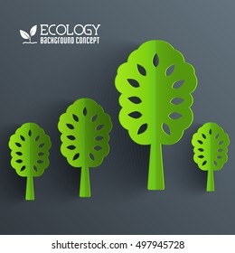 Green eco neture tree vector illustration background concept. Template web and mobile design