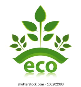 Green ECO reforestation concept.