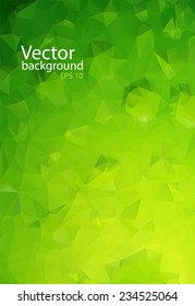 green eco triangle background