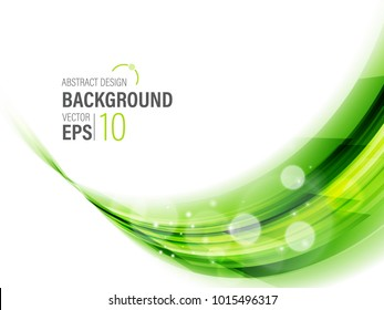 Green Eco wave line abstract background vector illustration